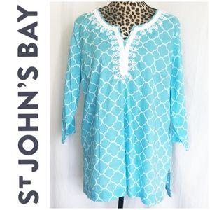 🎀 3/$25 St. John's Bay Cotton Tunic